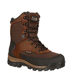 Rocky Men's Core Waterproof Insulated Outdoor Boot Round Toe Brown 8 M