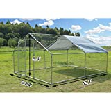 Large Metal Chicken Coop Walk-in Poultry Cage Hen