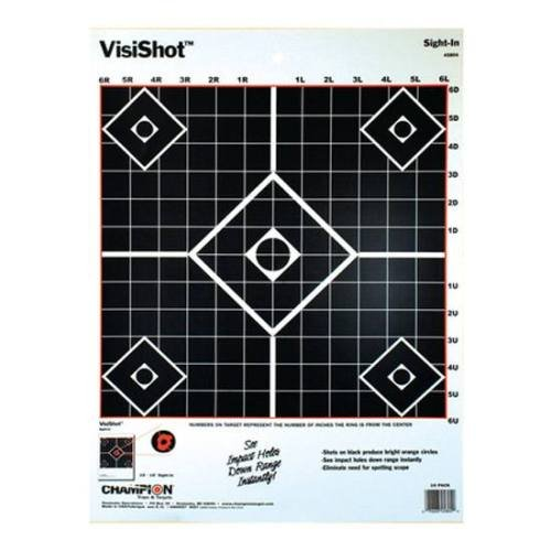 Champion VisiShot Sight-In Target (Pack of - Commerce In Target