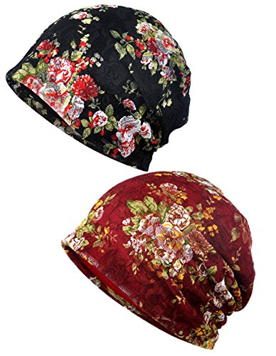(Luccy K Men's Soft Rainbow Striped Slouchy Caps Beanie Skull Hat)