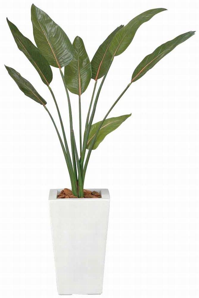 造花 観葉植物 「ストレチア 120cm」 光触媒(空気清浄) インテリアグリーン 鉢植え B078S7QNTH