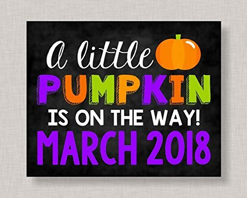 Adonis554Dan Halloween Pregnancy Announcement Sign Pumpkin Pregnancy Announcement Wood Plaque Pregnancy Announcement Wood Halloween Reveal ()