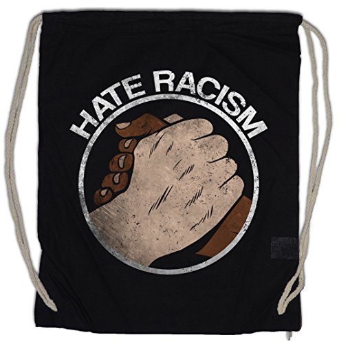 Hate Racism Drawstring Bag