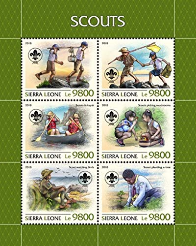 Sierra Leone - 2018 Boy Scouts - 6 Stamp Sheet - SRL18805a