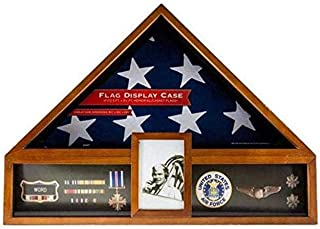 product image for flag connections Military Veteran Flag and Medal Display Case - Shadow Box