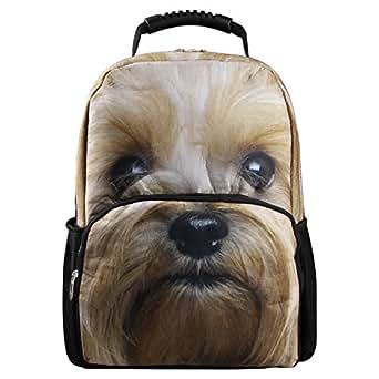 Hynes Eagle 3D Animal Print School Backpack (Dog-4)