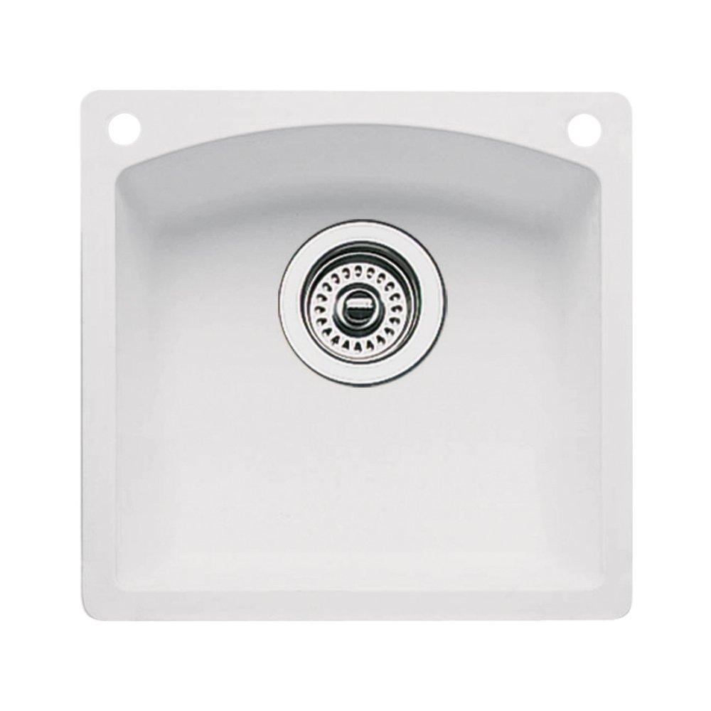 Blanco 440205-2 Diamond 2-Hole Single-Basin Drop-In or Undermount Granite Bar Sink, White by Blanco (Image #1)