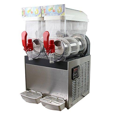 15L x 2 Slushy Machine Slush Making Machine Frozen Drink Machine Smoothie Maker 600W Suitable for Commercial Use