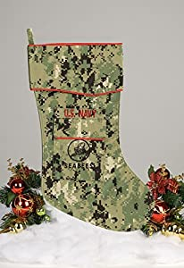 Navy Seabees Christmas Stocking from TERK Designs, LLC