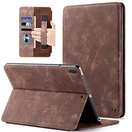 """BELKA Case for iPad Pro 11 inch 2018, [Support Apple Pencil 2nd Gen Charging] [Hand Strap] Luxury Leather Folio Flip Cover with Auto Sleep/Wake for iPad Pro 11"""" 2018 - Brown"""