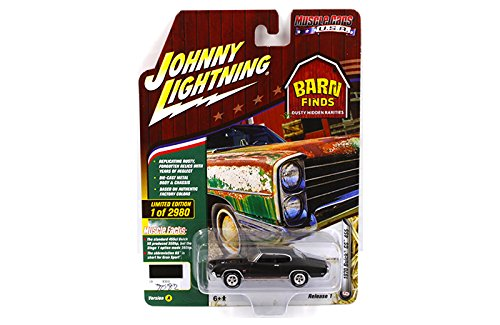New 1:64 AUTO WORLD JOHNNY LIGHTNING MUSCLE CARS USA 2018 COLLECTION - 1970 Buick GS 455 (Regal Black)