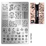 MOYRA Stamping plate '' TATTOO'' High quality Nail Stamping plate