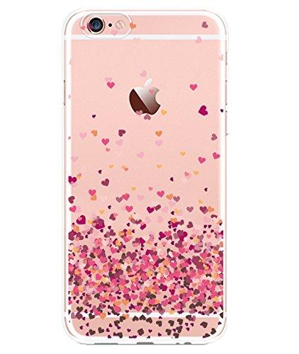 iPhone 8 Plus Liquid Hearts Rubber Case