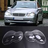 Front Headlamp Headlight Lens Cover, Clear, W203, C