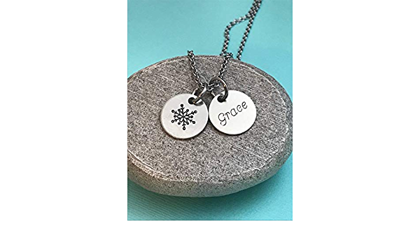 Double layer snowflake necklace,Christmas snowflake necklace,winter wedding Jewelry,Bridesmaid gift,Birthday gift,custom jewelry card