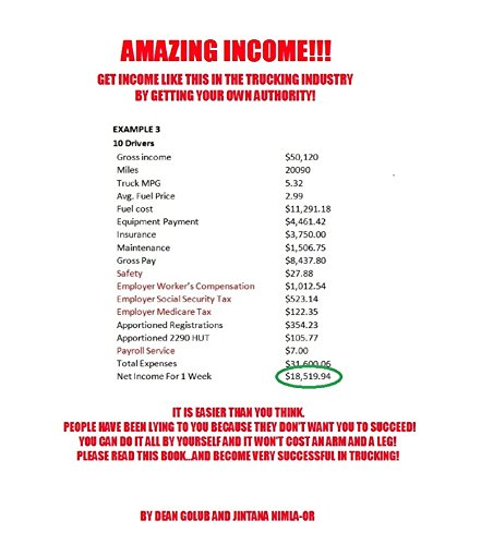 Amazing Income In Trucking: Get Your Own Authority