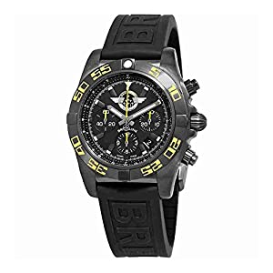 Breitling Chronomat 44 Chronograph Automatic Black Dial Mens Watch MB01109P-BD48-153S