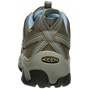 KEEN Women's Voyageur Hiking Shoe, Brindle/Alaskan Blue, 8.5 M US