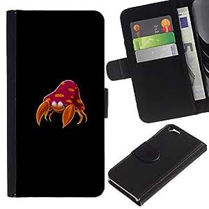 """A-type (Meter Cangrejo Monstruo"""") Colorida Impresión Funda Cuero Monedero Caja Bolsa Cubierta Caja Piel Card Slots Para Apple (4.7 inches!!!) iPhone 6 / 6S"""