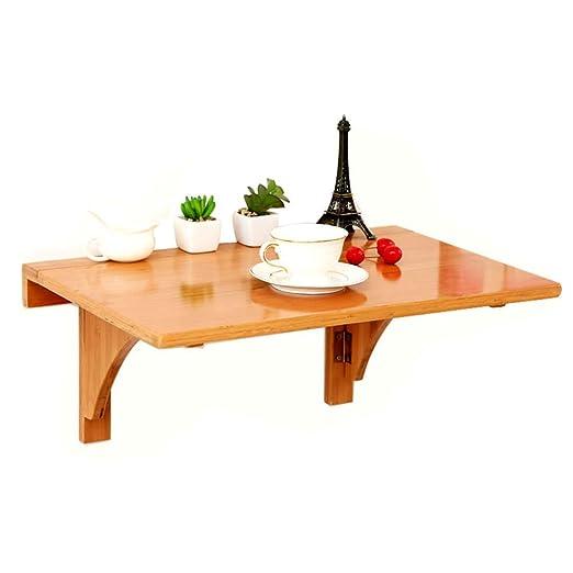 XXZDZ- Mesa abatible de bambú de Hoja abatible, Mesa de Comedor ...