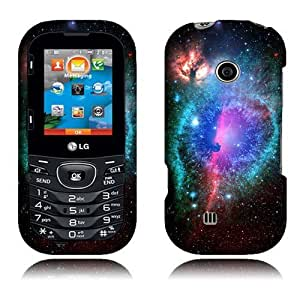 Nextkin LG Cosmos 3 VN251S Cosmos 2 VN251 Hard Plastic Snap On Protector Cover Case - Clash of Cosmo Galaxy