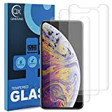 QIANXIANG Screen Protector for iPhone Xs/iPhone X, 3 Pack Tempered Glass Film, HD, Anti-Scratch, 9H Hardness, Bubble Free.