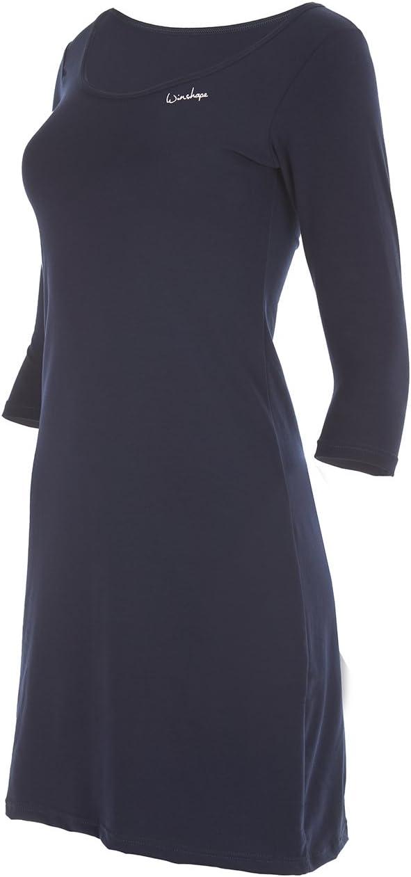 Winston Hape Donna Senza Tempo 3//4/Braccio a Linee del Mini Vestito WK2/Street Style Sport Tempo Libero Mini Vestito