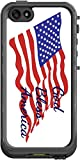 God Bless America Quote The American Flag Lifeproof Nuud iPhone 5 and 5s Vinyl Decal Sticker Skin