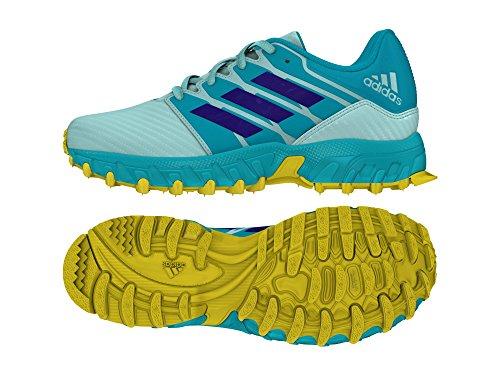 Adidas Junior Field Hockey Shoes Kids Turf Trainers (2 UK, Aqua/ Yellow)