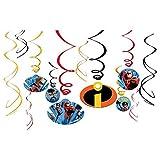 "Amscan Disney/Pixar Incredibles 2"" Swirl Value Pack 12ct, Party Favor"