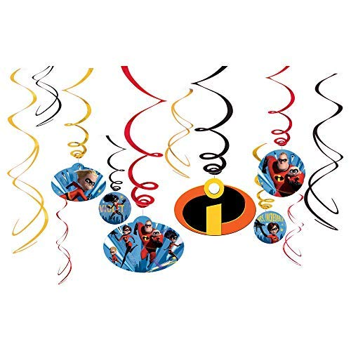 "Amscan Disney/Pixar Incredibles 2"" Swirl Value Pack"