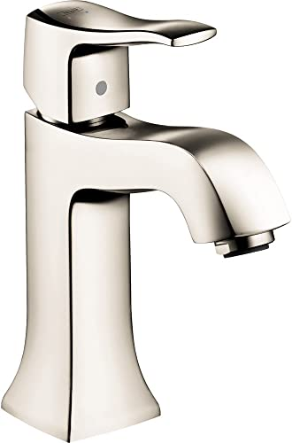 hansgrohe Metris C Classic Replacement Easy Clean 1-Handle 1 7-inch Tall Bathroom Sink Faucet in Polished Nickel, 31077831