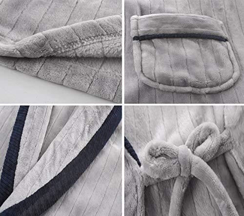 Moda Notte Dimensioni Unita Semplice Abiti Gray M Abbigliamento Uomo Caldo E Spesso Accappatoio Da Casa Tinta Camicia Pfsyr Autunno Blu colore Pigiama Inverno 6Rwn8F