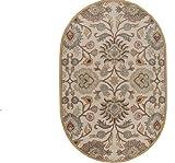 Surya Caesar CAE-1012 Classic Hand Tufted 100% Wool Doe Skin 8' x 10' Oval Traditional Area Rug