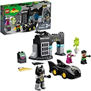 LEGO DUPLO Batman Batcave 10919 Action Figure Toy for Toddlers; with Batman, Robin, The Joker and The Batmobil