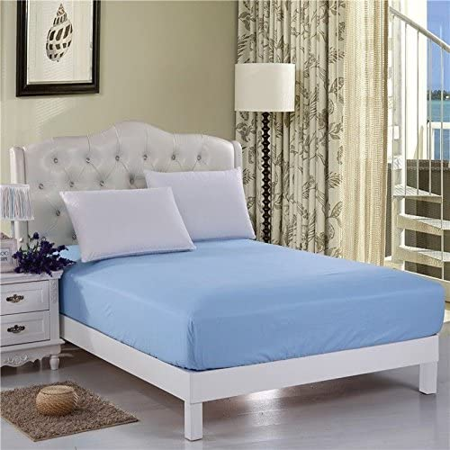 """100/% Cotton Fitted Sheet King Size 12/"""" Extra Deep White Fully Elasticated 400Tc"""