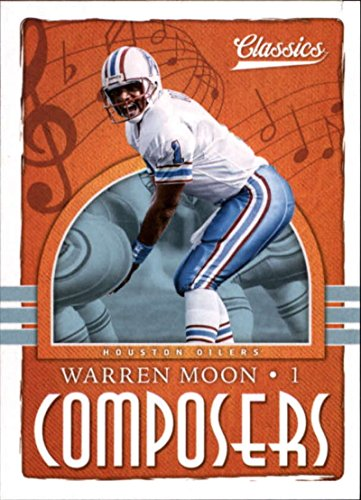 2018 Classics Football Composers #29 Warren Moon Houston Oilers Official NFL Trading Card made by Panini
