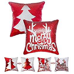 Hand Eembroidered Sequin Christmas Decorative Pillow Cover
