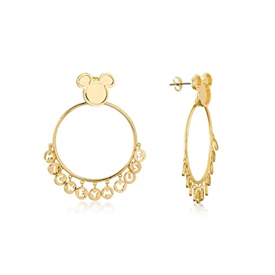 e0ae68b2e16d2 Disney Mickey Mouse 90 Years Gold-Plated Statement Hoop Earrings by ...