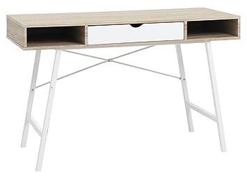 Jysk Abbetved Desk Oak White 48 X 120 X 76 Cm Amazon Ae