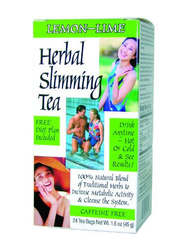 21st Century Tea (21st Century Slimming Tea, Lemon Lime, 24 Count (Pack of 3))
