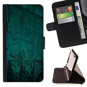 BullDog Case - FOR/Samsung Galaxy S3 III I9300 / - / Abstract Green Glow /- Monedero de cuero de la PU Llevar cubierta de la caja con el ID Credit Card Slots Flip funda de cuer