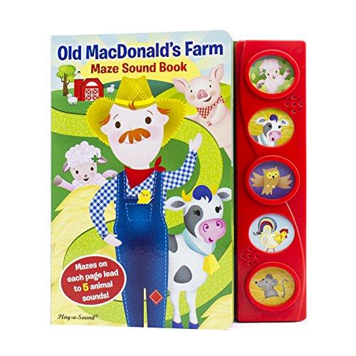 Old MacDonald's Farm Maze Sound Book - Play-a-Sound - PI Kids