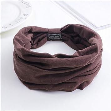 Amazon.com: Floral Print Turban Knot Headwrap Sports Elastic ...