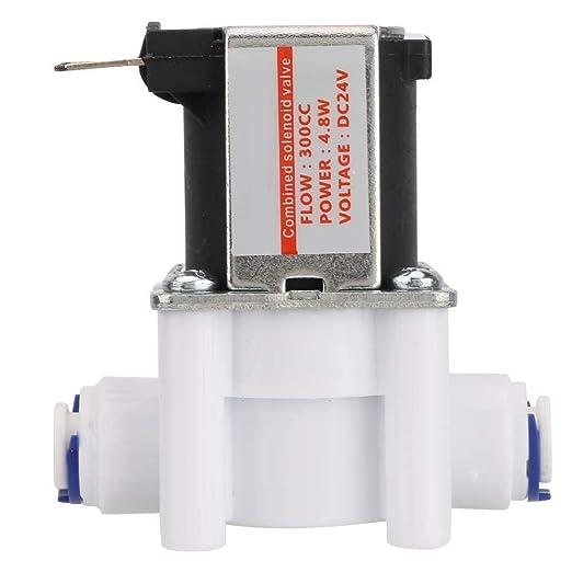 Válvula de descarga manual Fincos, 24 V, tipo normalmente cerrado, 300 cc, válvula solenoide para purificador de ...