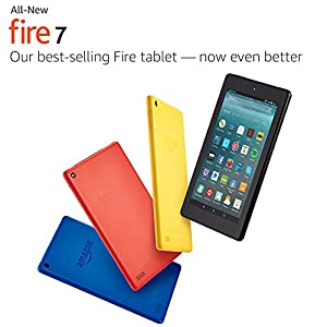 "All-New Fire 7 Tablet with Alexa, 7"" Display, 8 GB, Black - with Special Offers"