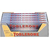 Toblerone Snow Top Chocolate Bars, 3.52 oz, 20 Count