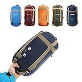 CAMTOA Outdoor Camping Sleeping Bag,Ultra-Light Envelope Sleeping Bag for Travel Hiking - Spring, Summer & Fall(Waterproof) Deep Blue