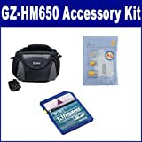 JVC GZ-HM650 Camcorder Accessory Kit includes: KSD2GB Memory Card, ZELCKSG Care & Cleaning, SDC-26 Case