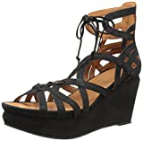 Gentle Souls Women's Joy Platform Sandal, Black, 9.5 M US